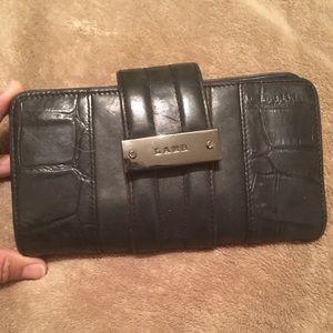 L.A.M.B. Gwen Stefani black leather wallet
